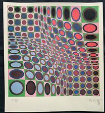 VICTOR VASARELY - lithograph signed on original paper of 70's -BIOND W-
