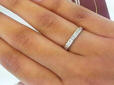 2mm 14k White Gold Diamond Square Princess Cut Channel Set Ring Wedding Band