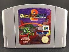 Chameleon Twist 2 - Nintendo 64 Game - N64 PAL Preloved - Cartridge VGC