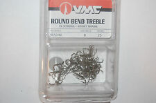 vmc treble hook round bend 1x strong short shank size 8 25 per value pack