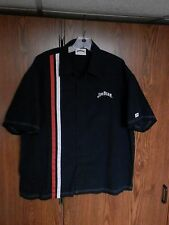 Official Jim Beam Whiskey Racing stripe Embroidered shirt men's XL tin sign lot