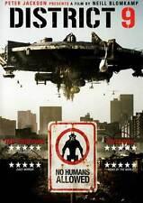 DISTRICT 9 Movie POSTER 27x40 UK William Allen Young Robert Hobbs Sharlto Copley
