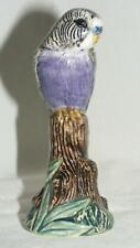 More details for quail ceramics bird figure budgerigar (budgie) violet 819
