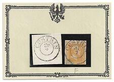 Pr Vor / CÜSTRIN vorph. K2 a. Blanko-Briefst. + profilfrei a. vollrand 12b, kl.