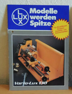 Modellbau Prospekt Vario-Lux 130 Drehbank Drehmaschine