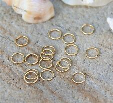 50 Deep Gold plated Open Jump Rings 8mm x0.8mm thick pendant earrings
