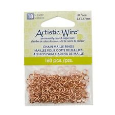 Copper Artistic Wire Chain Maille Rings 18 Gauge 3.57mm Pack of 160 (G52/22)