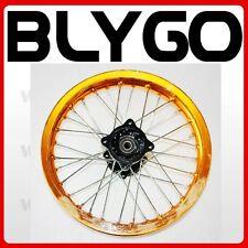 "GOLD 90/100 - 14"" Inch Alloy Rear Back Wheel Rim PIT PRO Trail Bigfoot Dirt Bike"