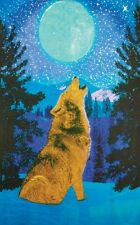 3D TAPESTRY-HOWLING WOLF-100% COTTON-60X90 WALL HANGING-3D GLASSES INCLUDED