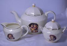 M.I. Hummel Stormy Weather Porcelain Tea Set W/ Umbrella Tops From Danbury Mint