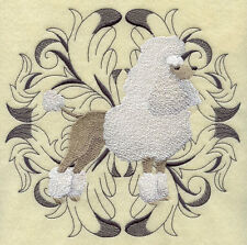 FRENCH POODLE OOOH LALA SET OF 2 BATH HAND TOWELS EMBROIDERED BY LAURA