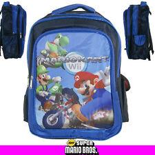 "16"" Super Mario Brothers Kart Wii YOSHI LUIGI Backpack School Book Bag"