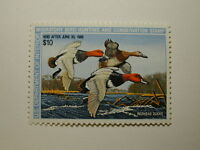 US Department of Interior Scott #RW54 $10 Redhead Ducks Stamp 1987, MNH