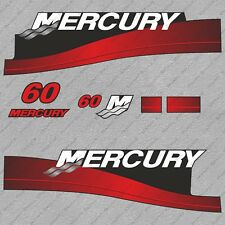 Mercury 60 hp Two Stroke outboard engine decals sticker set reproduction 60HP