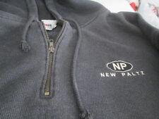 Men's Hoodie w/half zipper  XL Grey New Paltz  New w/o tags