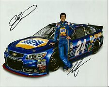2016 Chase Elliott & Alan Gustafson NAPA Racing Dual Signed 8x10 Photo W/ COA