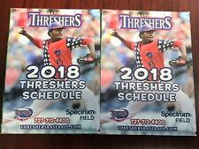 Lot of 2 Clearwater Threshers 2018 Minor League Pocket Schedule Phillies