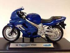 Model Motorbike, Triumph TT600, 2002, Blue,  Birthday, Cake Topper,  1/18