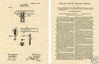 STARRETT SQUARE LEVEL US PATENT Art Print READY TO FRAME!!  Vintage 1902 T