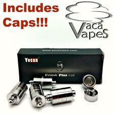 5 Pack Quartz Dual Coils (QDC) Yocan Evolve Plus Includes CAPS!! Authentic