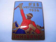 BEERLIN OLYMPICS FIS WETTKAMPFE 1936 INNSBRUCK COMPETITORS ENAMEL PIN BADGE