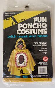 Rare 1983 Ben Cooper The A-Team B.A. Baracus Mr. T Fun Poncho Costume Taiwan MIP