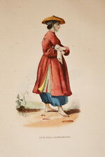 ASIE GRAVURE COULEURS JEUNE FILLE COCHINCHINOISE  WHALEN 1843 W53
