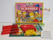 The Simpsons Scrabble Tile Game 100% Complete 2005 Xmas Homer Bart