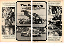 1970 HEMI CUDA FUNNY CAR / CANDIES & HUGHES  -  ORIGINAL 2-PAGE ARTICLE / AD