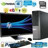 "DELL 7010 DESKTOP PC COMPUTER i5-3470@2.9GHZ 16GB-240SSD WIN10/2GB-GT710 22"" LCD"