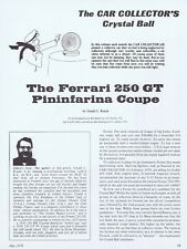 1978 Article  - 1958 FERRARI 250 GT PININFARINA COUPE
