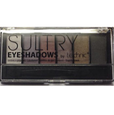 Technic Eyeshadow Pallette, Sultry, 6 Shades Silver, Purple, Brown + Applicator