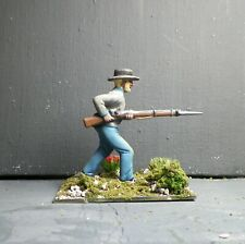 1/32 CONFEDERATE SOLDIER #8 - Hand Painted Based- 54mm    Plastic -   ACW - AIP