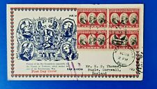 More details for usa airmail first day cover yorktown sc#703 (block of 4) oct 19 1931 qe5