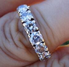 .96ct Slightly brown 6 diamond wedding anniversary band 14k YG