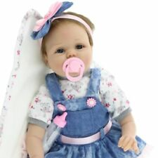 "22"" Full Body silicone Reborn poupées réalistes baby girl newborn Doll Cadeaux rlts"