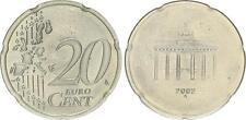 Allemagne 20 cents échantillon cu-ni 2002 a laxiste motif échantillon Brandenb. portail