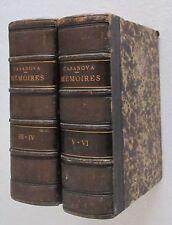 Casanova MEMOIRES DE JACQUES CASANOVA DE SEINGALT Rozez 1860 4 tomi