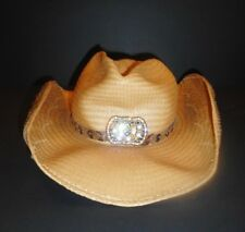 Bullhide Cowgirl  Panama Straw Cowboy Hat Embellished with Lucky Hoseshoes Small