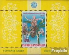 Indonesia Block24A (volledige uitgave) postfris MNH 1977 Orchideean