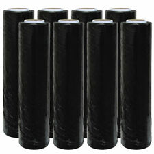 2 Rolls Black Pallet Stretch Shrink Parcel Packaging Wrap Roll Cling Film