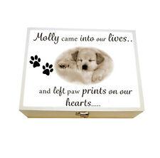 Large Personalised Keepsake box,Dog Memorial Box, In Memory of Box