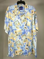 TOMMY BAHAMA Vintage Disney Parks Collection Mickey Silk Button Shirt Mens L
