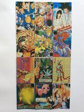 Dragon Ball Z Prism Goku Vegeta Sticker Card Set of 49 - Anime Animation Lot