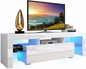 High Gloss TV Stand LED Cabinet Media Storage Console Cupboard Table 130/160CM