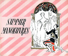SUMMER MANOEUVRES 1955 Michèle Morgan Brigitte Bardot RENE CLAIR UK BROCHURE