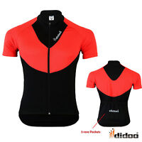 Didoo Men's Short Sleeve Cycling Jersey Breathable Bicycle Shirts Tops MTB Bike