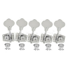 Tuning Pegs Machine Heads Tuners For 5 String Jazz P Bass Guitar 4R1L Chrome