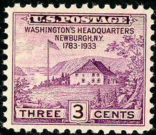 US Scott #727 Peace of 1783, Newburgh, NY 3¢ (1933) MNH ***FREE SHIP****