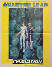 """New listing Quantum Leap - Comic Series Promo Poster 17x22"""" 1992 Innovation Book Display"""